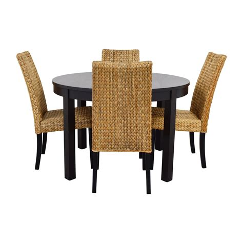 Black Chairs For Dining Table 66 Macy S Ikea Black Dining Table Set With Four Chairs Tables