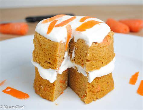 protein mug cake carrot cake protein mug cake macrochef