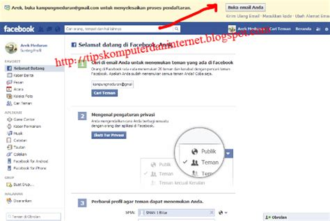 membuat konfirmasi email php cara membuat facebook fanspage group tutorial fb