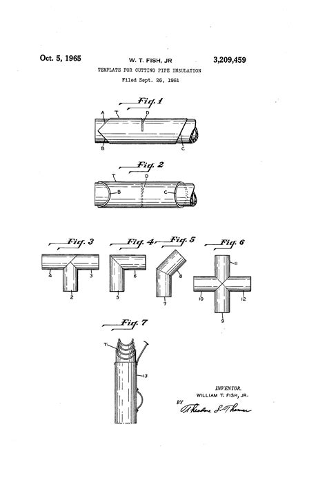 pipe cutting templates patent us3209459 template for cutting pipe insulation