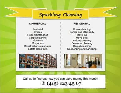 cleaning flyer templates house  business