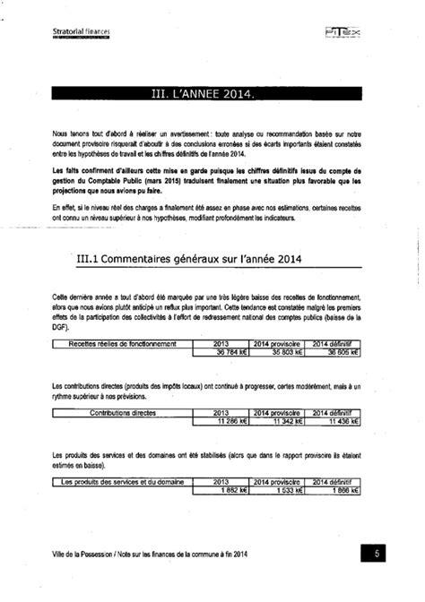 Cabinet Audit Financier by La Possession Le Cabinet D Audit Financier A Rendu