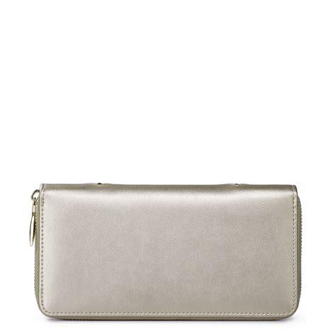 Silver Wallet color block wallet silver
