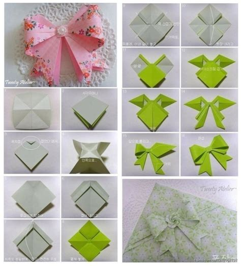 Origami Bow - origami on origami bow paper snowflakes and