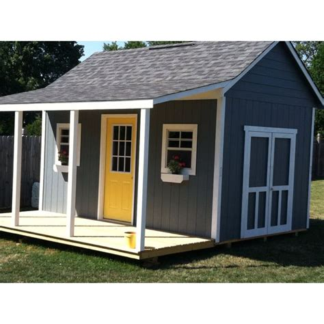Shed With Porch Plans by My Cute Shed With A Porch For Mama Pinterest