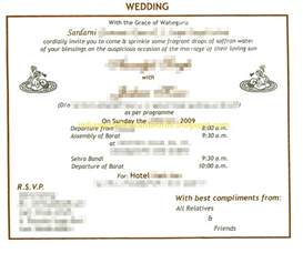 Indian Wedding Card Wordings Indian Wedding Card Wordings In Text Format Parents Invite To Boy S Wedding Sikh Invite