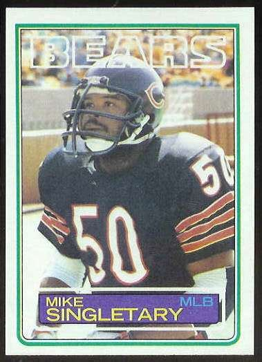 football cards value 1983 topps fb 38 mike singletary rookie