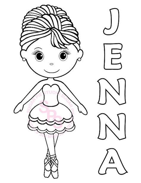 ballerina coloring pages pdf personalized printable ballerina dance birthday by