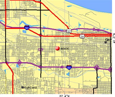 map of gary indiana 46406 zip code gary indiana profile homes apartments