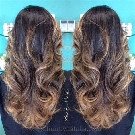 best type of hair color for brunettes balay or ombre i like this kind of highlight texture hair and makeup