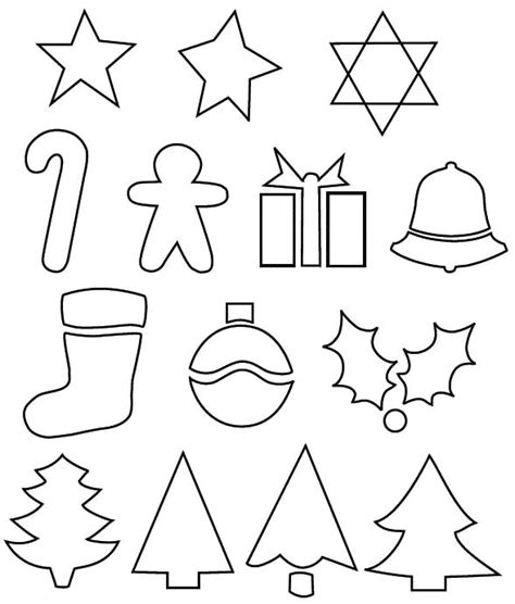small printable christmas decorations moldes de natal para imprimir 2017 customizando net
