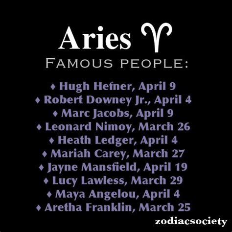 aries famous people this tumblr page is awesome aries