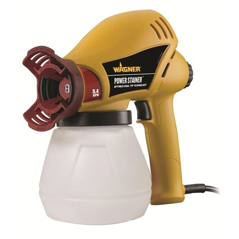 home depot paint sprayer wagner wagner power stainer 5 4 gph paint sprayer 0525047 the