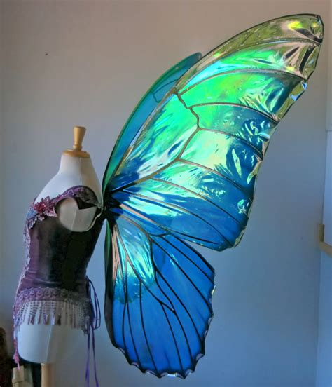 Maxi Omneset Blue morpho butterfly wings made to order