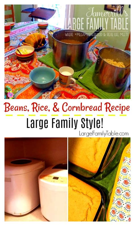 jamerrill large family jamerrill s beans rice and cornbread recipe large