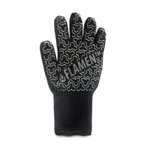 extended cuff kevlar bbq and fireplace glove fireproof