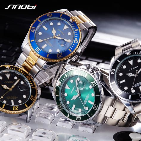 Jam Replika Rolex Submariner Silver Gold sinobi jam tangan diver submariner pria 9721 black gold jakartanotebook