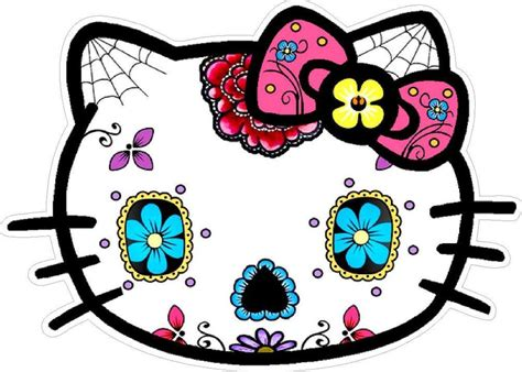 imagenes de hello kitty mexicana 0 hello kitty sugar skull sticker decal ebay