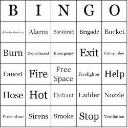 Safety Bingo Template by Department Bingo Cards