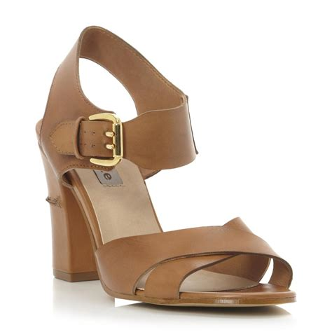 brown two sandals dune womens brown two part block heel
