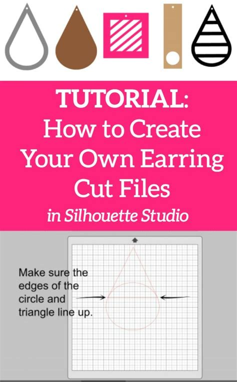 earring card template silhouette design tutorial 5 types of faux leather earring cut files