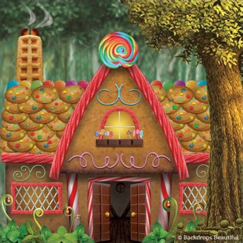 Woods Gingerbread House Commercial Backdrops Beautiful Hand Painted Scenic Backdrop Rentals