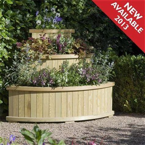 Corner Garden Planters by Pressure Treated Wooden Garden Planters Free Delivery