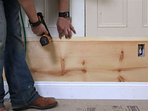 Lower Wall Wood Paneling How To Build Custom Wall Paneling How Tos Diy
