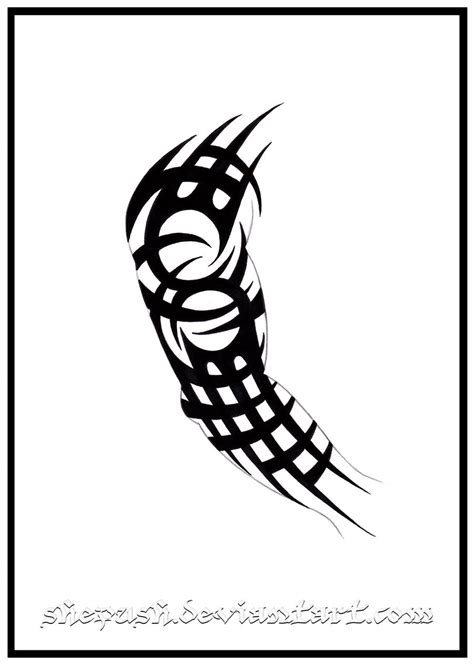 full arm sleeve tribal tattoo designs sleeve 6 by shepush on deviantart