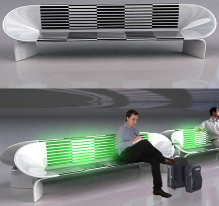 led bench led sit bench designed to revolutionize the waiting in