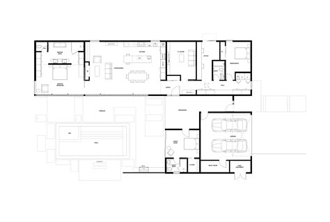 glass wall floor plan gallery of glass wall house klopf architecture 19
