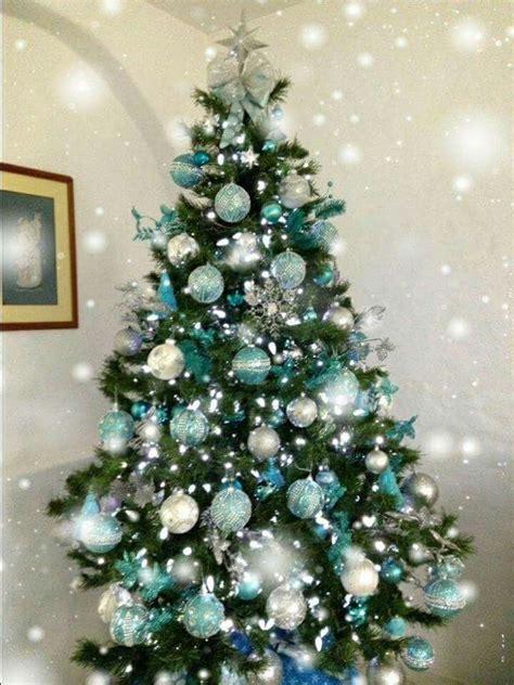 hermoso 225 rbol de navidad verde con azul decoraci 243 n