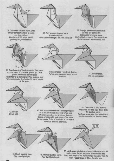 How To Make An Origami Unicorn - unicorn origami paper origami guide