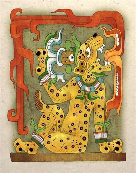 imagenes de jaguar maya mayan art print jaguar god