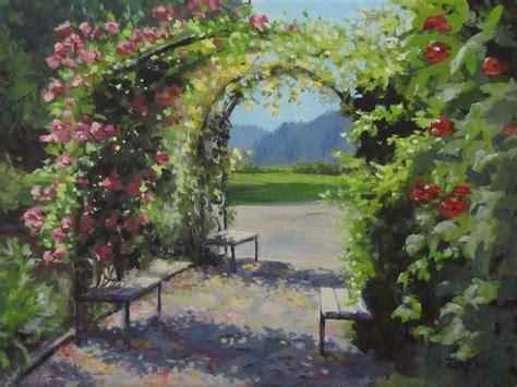 Vineyard Gardens by Vineyard Gardens Painting By Ilari