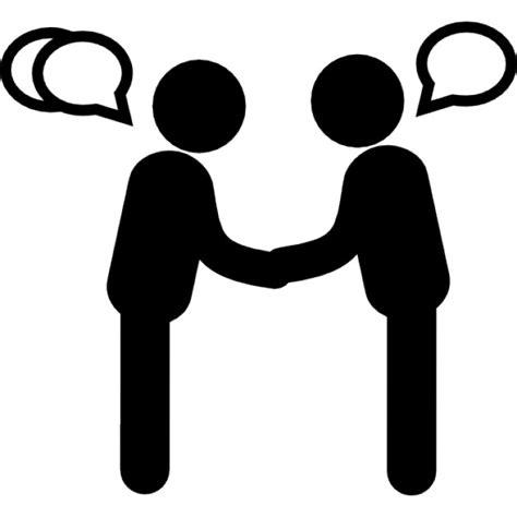 Anschreiben Anrede 2 Personen Stehen Personen Sprechen Zu Einander Anrede Der Kostenlosen Icons