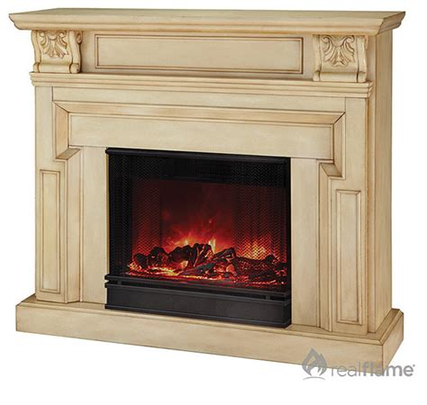 real kristine white antique electric fireplace