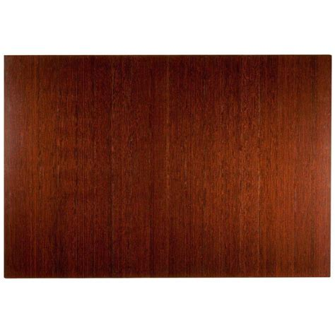 Bamboo Roll Up Chair Mat by Anji Mountain Deluxe Brown Mahogany 48 In X 72 In