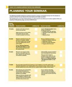 sample seminar planning templates 7 free documents