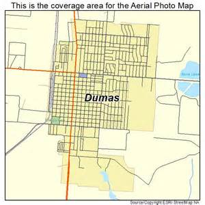 aerial photography map of dumas tx