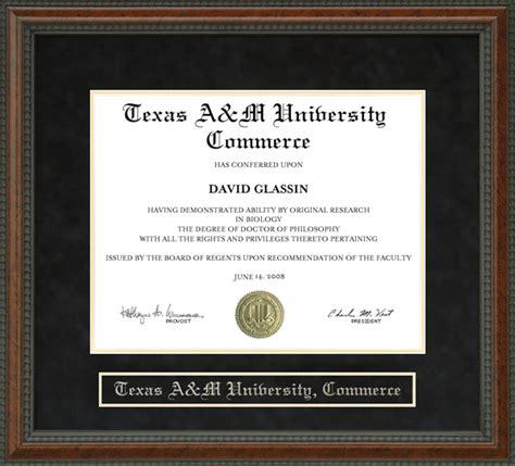 Mba Tamu Commerce by A M Commerce Tamu C Diploma Frame