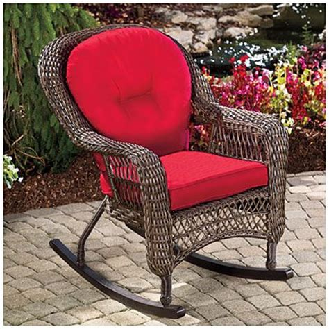 wilson fisher charleston resin wicker cushioned rocker
