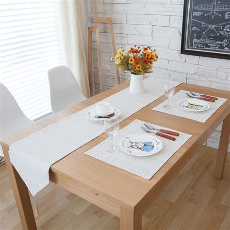 country style table runners french country style nordic minimalist restaurant dining