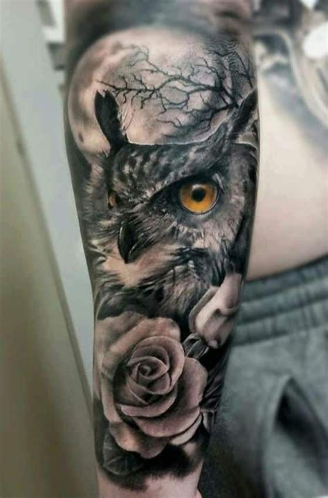 owl and moon tattoo 30 best owl tree and moon tattoos images on