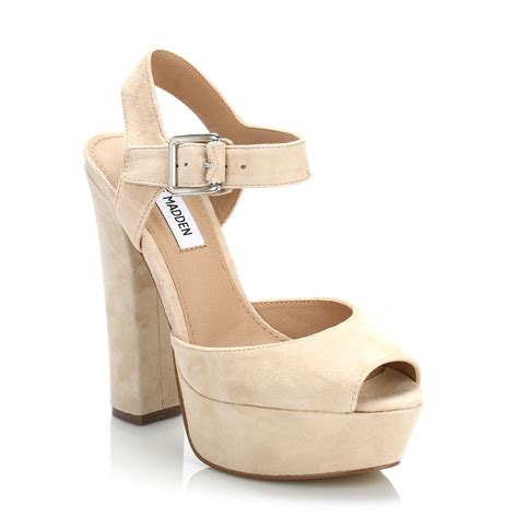 Heels Beige steve madden womens blush jillyy suede high heels beige ankle sandal shoes ebay