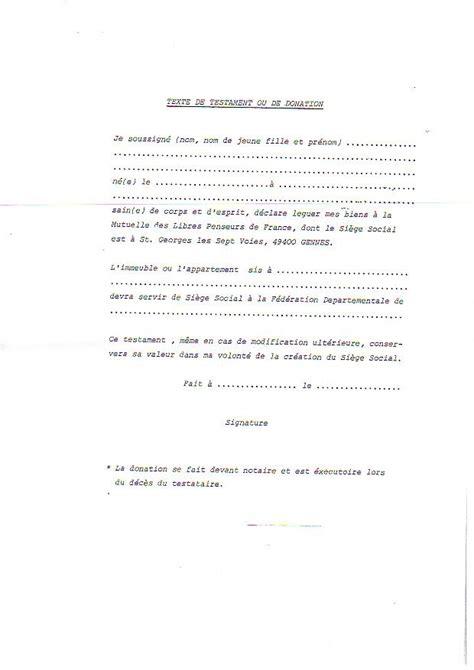 Modeles De Lettre Testament Exemple Modele Testament Olographe