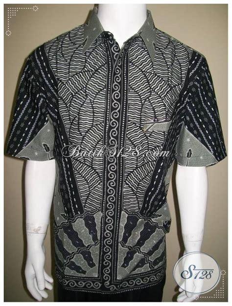 Kemeja Batik Bunga Kincir Abu kemeja batik tulis abu hitam bagus elegan modern ld199t xl toko batik 2018