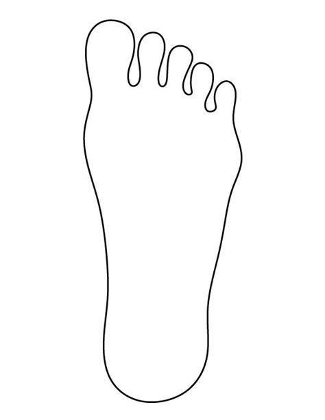 footprint template foot pattern use the printable outline for crafts