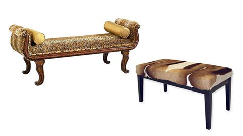 animal print benches 15 animal print bedroom benches for safari inspired bedrooms home design lover
