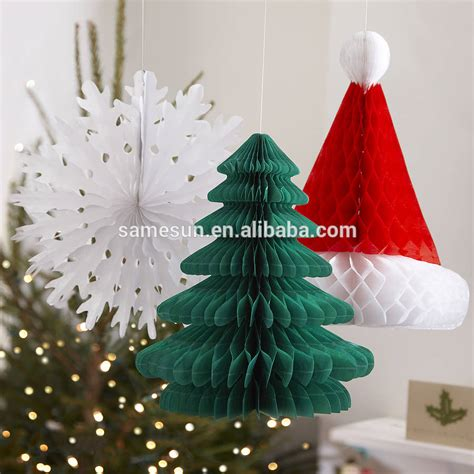 unique honeycomb paper christmas decoration buy